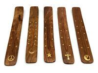 """Wood Incense Burner Holder Ash Catcher for Sticks 10"""" CHOICE DESIGN"""