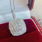 Luxury Engagement 925 Silver Necklaces Pendants For Women Cubic Zirconia Jewelry