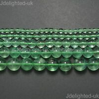 Natural AAA Green Fluorite Gemstone Round Beads 4mm 6mm 8mm 10mm 12mm 15.5''