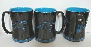Carolina Panthers 14oz Sculpted Relief Coffee Mug  NFL Tea Cup Hot Ceramicqa