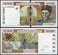 COSTA MARFIL WEST AFRICAN STATES 10000 Francs francos 2001  Pick  114Aj SC / UNC