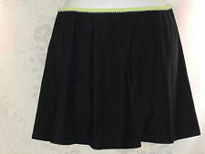 MiracleSuit Bathing Suit Skirt Bottom Cover Up Swim Wear Black Green Trim Sm EUC