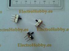 10x Mini Interruptor, Conmutador 1C 2P 0,5A-50Vdc 2,54mm CI, Protoboard, Arduino