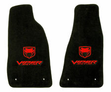 LLOYD Velourtex™ FLOOR MATS Red Embroidered Logos 2003-2006 Dodge VIPER SRT-10