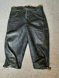 Lederhose ¾ Kinder Be-Ku Qualität dickes, schweres Leder evtl. vom Hirsch