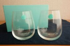 NEW Tiffany & Co Silk print logo Tumbler Grass pair from JAPAN F/S