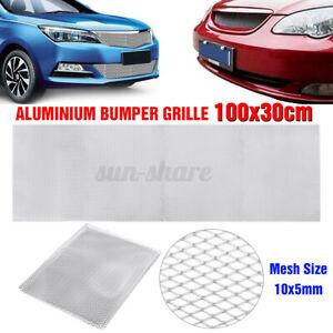 """40""""x13"""" Aluminum Mesh Grill Cover Car Front Bumper Fender Hood Vent Grill Net US"""