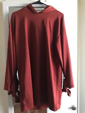 NWT Zara TRF Red Hooded Dress with Ties Small
