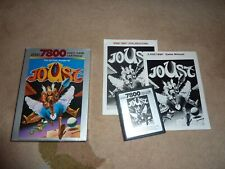 Atari 7800 Joust boxed PAL cartridge complete with English and German manuals