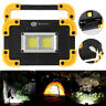 Ultra Bright COB LED Work Light Rechargeable Emergency Flood Lamp Stand Outdoor