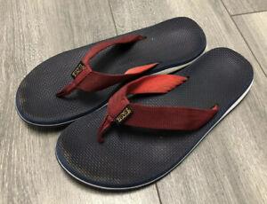 Teva Mens Classic Flip Flop Sandals Slides Thong Blue Size 9