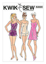 Kwik Sew Sewing Pattern 2589 Misses' Chemise Camisole Shorts Lingerie Sleepwear