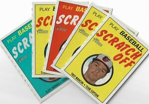 2019 Topps Heritage High Numbers Play Baseball Scratch Off U Pick List #16-30