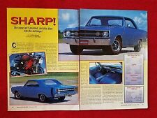 1968 Dodge Dart GTS - 2 Page Article - Free Shipping
