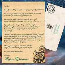 Personalised PARCMHMENT letter from Santa Father Christmas xmas plus envelope!