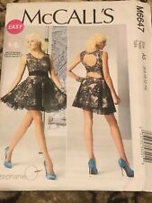 McCall's M6647 6-14 Easy Cute Prom Club Homecoming Dress Pattern