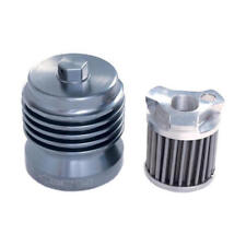 Stainless Steel Spin On Grey Oil Filter PC Racing USA PCS2 - Motorcycle Apps.