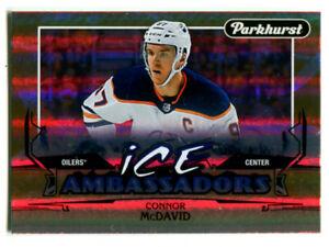 2018-19 Parkhurst Connor McDavid Ice Ambassadors Card #IA-5 Edmonton Oilers