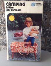 1971# CAMPING GRAZIOLI LETTINO PER BAMBOLA MADE IN ITALY NRFB NIB