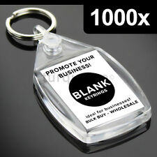 1000x Clear Acrylic Blank Keyrings Key Fobs 35 x 24 mm | Small Size Photo