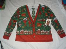 Men's Faux Real L Large Ugly Christmas Sweater Costume Shirt