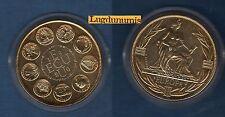 Médaille - Ecu Europa - 1980 - Doré - 41 mm 31 Grammes Sous capsule