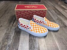 NWT Vans Orange Red Blue Checkerboard Shoes Womens Size 7 Mens 5.5