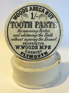 SCARCE 1 SHILLING WOODS CHERRY TOOTHPASTE POT LID