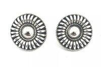 Native American Sterling Silver Navajo Handmade Silver Post Earrings