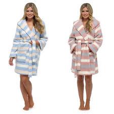 Polyester Robe Striped Nightwear for Women