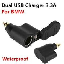 Waterproof Motorcycle 2 USB 3.3A Charger Cigar Lighter Socket For BMW Hella Plug