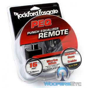 ROCKFORD FOSGATE PEQ PUNCH AMPLIFIER BASS BOOST EQUALIZER REMOTE KNOB & WIRE NEW