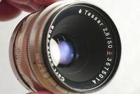 Zeiss Jena Tessar Model 2, 50mm f2.8 Lens, Preset, 14 Blades, Exakta Mt.