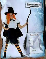 """Pre-Teen Witch size Xl (waist 34"""") girl Costume 6 pcs.:top,skirt,hat,cape, leg+"""