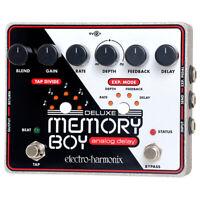 Electro Harmonix Deluxe Memory Boy Analog Tap Tempo Delay Guitar Effects Pedal