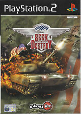 SEEK AND DESTROY for Playstation 2 PS2 - with box & manual - PAL