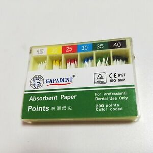 Dental  Gutta Percha Absorbent Paper Points Root Canal Endo 15-40# 200pcs/Box