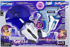 Telescience 3-in-1 spy ear microfono a distanza + TELESCOPICO + TORCIA, KIDS-spionaggio-Set