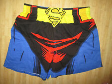 NEW Superman UNDERWEAR Sleep Shorts MENS L 36 38 DC Comics