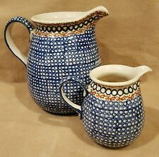 "William Sonoma Small and Large Matching Pitchers Made in Poland 7.5"" H / 4.75"" H"