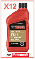 12 X Quarts OEM Full Synthetic Engine Motor Oil FORD/Motorcraft SAE 5W-20
