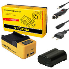 PATONA LCD USB Ladegerät + Akku für Nikon D750 D800E D800 D810 - ACCU 1600mAh