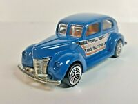 Fat Fendered '40 2000 Hot Wheels Circus On Wheels Series Blue Lace 1/64 Loose