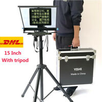 YISHI 15 Inch Folding Portable Teleprompter for DSLR Interview Conference Studio