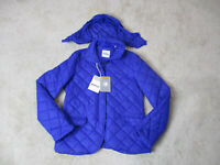 NEW Aspesi Quilted Jacket Womens Medium Blue Nano Puffer Full Zip Coat $325