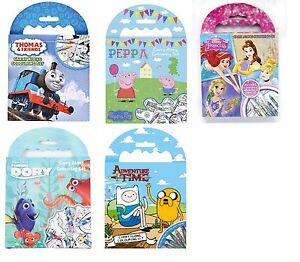 Mini Carry Along Colouring Set Travel Pack Holiday Activity Crayons Pictures Fun
