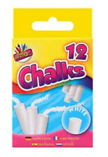 Chalk Sticks White, 12 Sticks, Childrens Arts and Crafts projects,