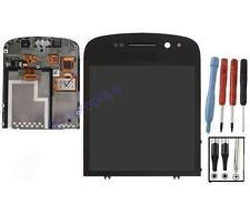 ECRAN LCD + VITRE TACTILE SUR CHASSIS BLOC COMPLET POUR BLACKBERRY Q10 NOIR FILM