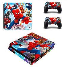 PS4 Slim Console Controller Skin Ultimate Spider Man Marvel Comic Vinyl Decals