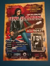 GENE SIMMONS - KISS - 2018 RESCHEDULED Tour - Laminated Promo Poster 02